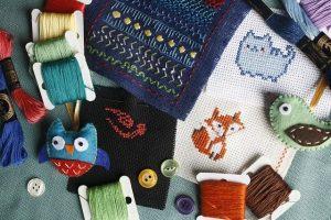 selyemfestők, a hímző készletek kreatív játék